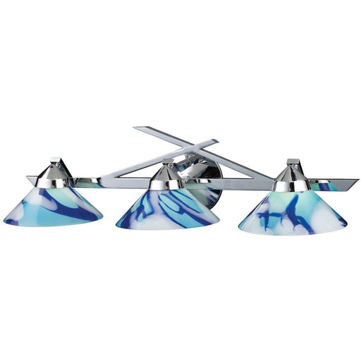 Refraction Polished Chrome Vanity Light - Bath & Vanity