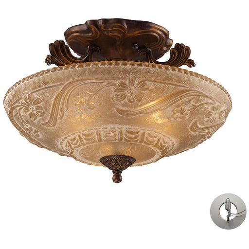 Restoration Golden Bronze Semi Flush Mount - Semi-Flushmounts