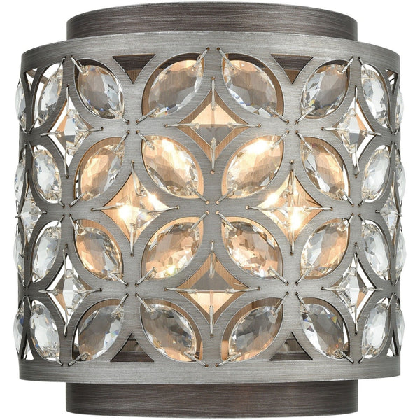 Rosslyn Weathered Zinc Matte Silver Wall Sconce - Wall Sconce