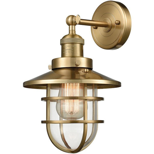 Seaport Satin Black Wall Sconce - Wall Sconce