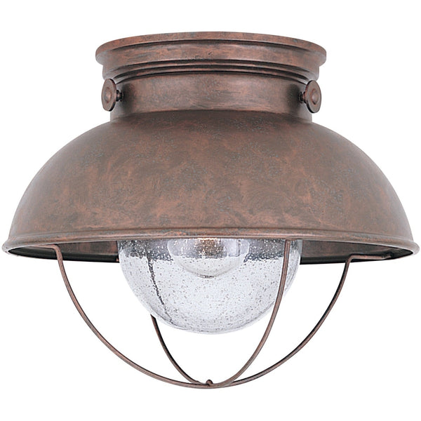 Sebring Weathered Copper Outdoor Flush Mount - Outdoor Flush Mounts