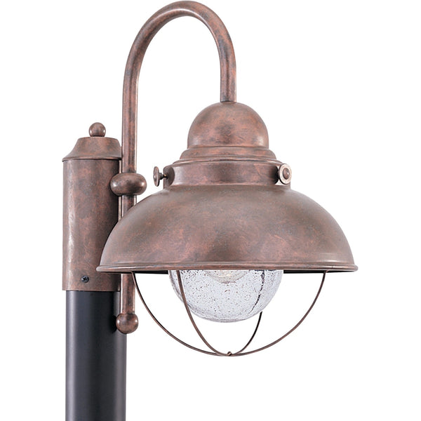Sebring Weathered Copper Outdoor Post Lantern - Outdoor Post Lantern