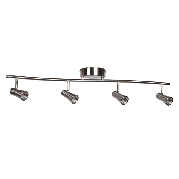 Sleek Brushed Steel LED Semi FlushMount - Semi-Flushmounts