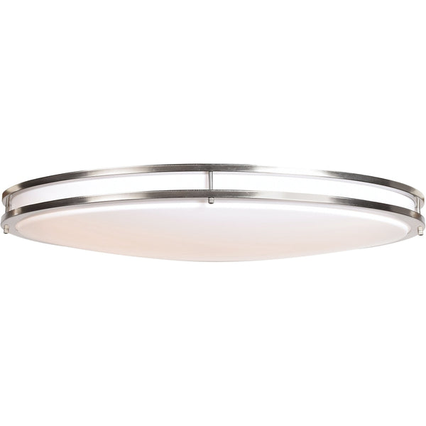 Solero Oval Brushed Steel LED FlushMount - Flushmounts