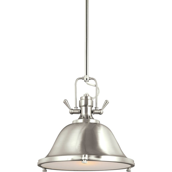 Stone Street Brushed Nickel LED Pendant - Pendants