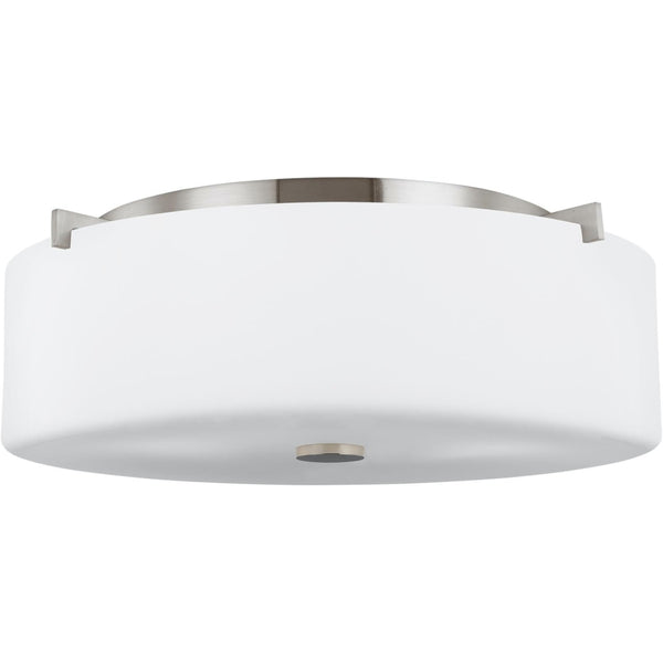 Sunset Drive Brushed Steel Flush Mount - Flushmounts