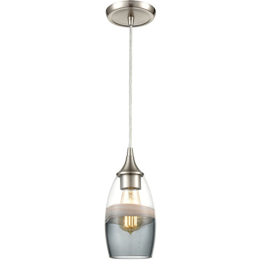 Sutter Creek Satin Nickel Mini Pendant - Mini-Pendants