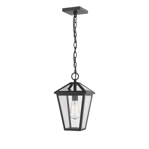 Talbot Black 1 Light Outdoor Chain Mount Ceiling Fixture - Outdoor Chain Mount Ceiling Fixture