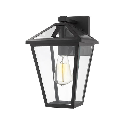 Talbot Black 1 Light Outdoor Wall Sconce - Outdoor Wall Sconce