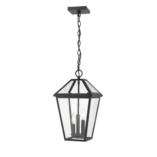 Talbot Black 3 Light Outdoor Chain Mount Ceiling Fixture - Outdoor Chain Mount Ceiling Fixture