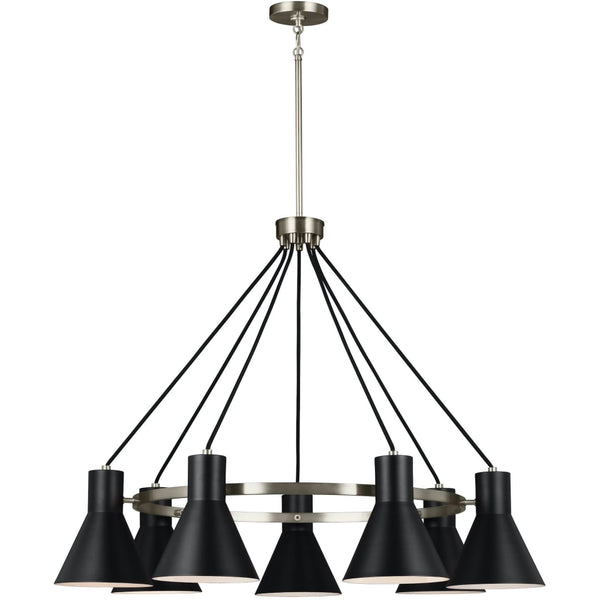 Towner Brushed Nickel Black LED Chandelier - Chandeliers