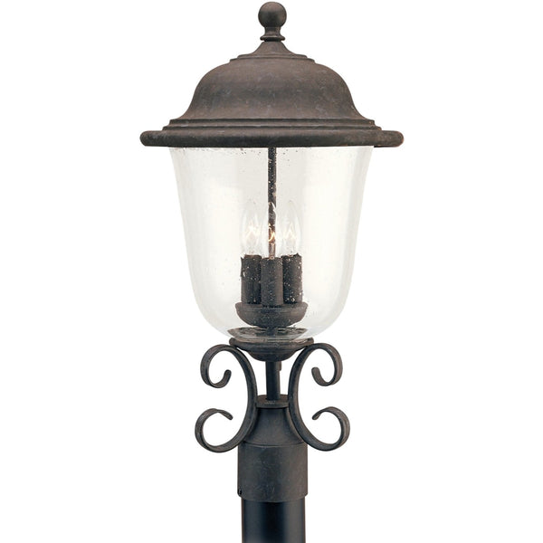 Trafalgar Oxidized Bronze LED Outdoor Post Lantern - Outdoor Post Lantern