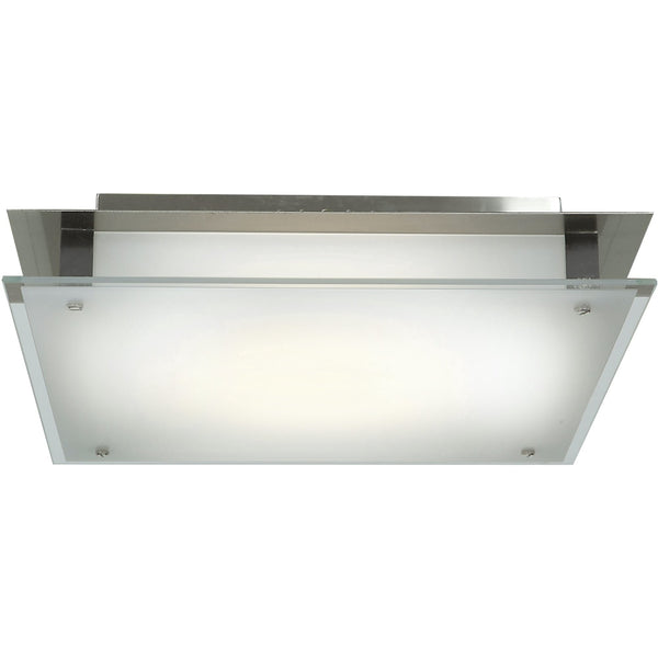 Vision Brushed Steel LED Flush Mount - Flushmounts