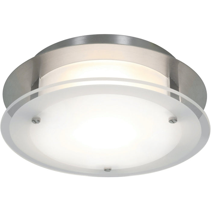 Vision Round Brushed Steel LED Flush Mount - Flushmounts