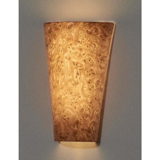 Vivid Burlwood High Gloss Wireless Battery Operated LED Sconce - Wireless Wall Sconce