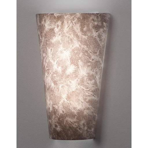 Vivid Grey Marble High Gloss Wireless Battery Operated Wall Sconce - Wireless Wall Sconce