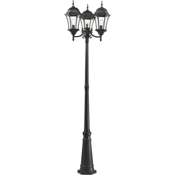 Wakefield Black Outdoor Post Mounted Fixture - Outdoor Post Mounted Fixture