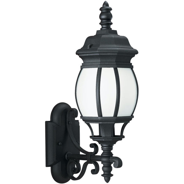 Wynfield Black LED Outdoor Wall Lantern - Outdoor Wall Sconce