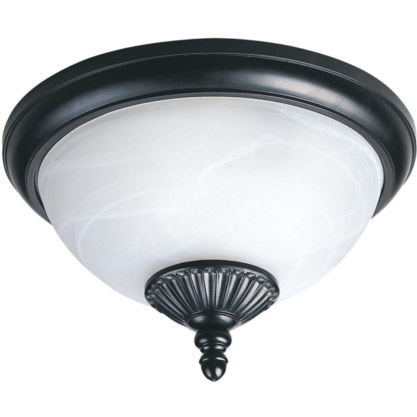 Yorktown Black LED Outdoor Flush Mount - Outdoor Flush Mounts