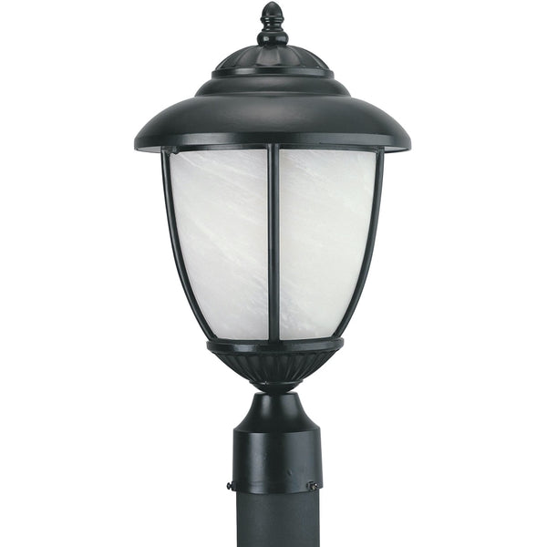 Yorktown Black LED Outdoor Post Lantern - Outdoor Post Lantern
