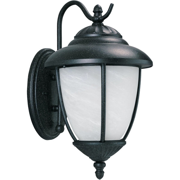 Yorktown Forged Iron LED Outdoor Wall Lantern - Outdoor Wall Sconce