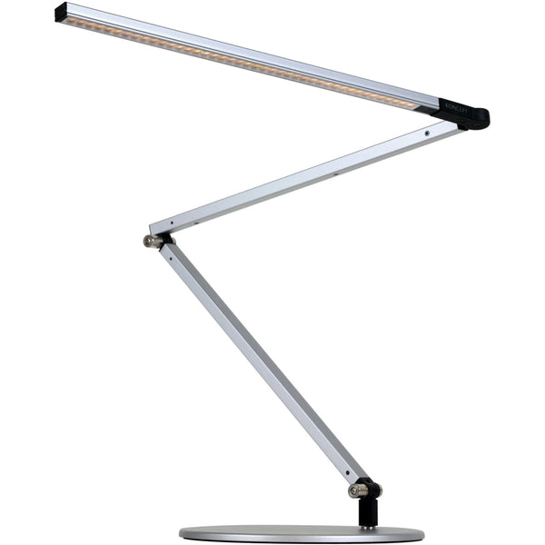 Z-Bar Desk Lamp with base (Warm Light; Silver) - Desk Lamp
