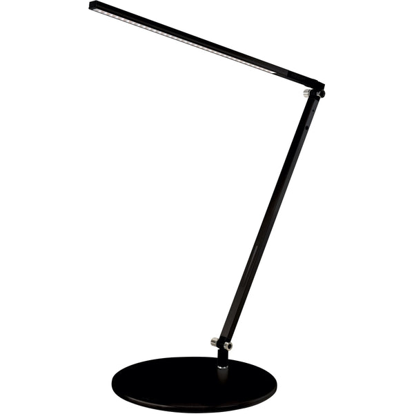 Z-Bar Solo Desk Lamp with base (Warm Light; Metallic Black) - Desk Lamp