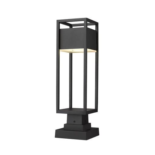 Z-Lite Barwick Black LED Outdoor Pier Mounted Fixture 585PHMS-SQPM-BK-LED - Outdoor Pier Mounted Fixture