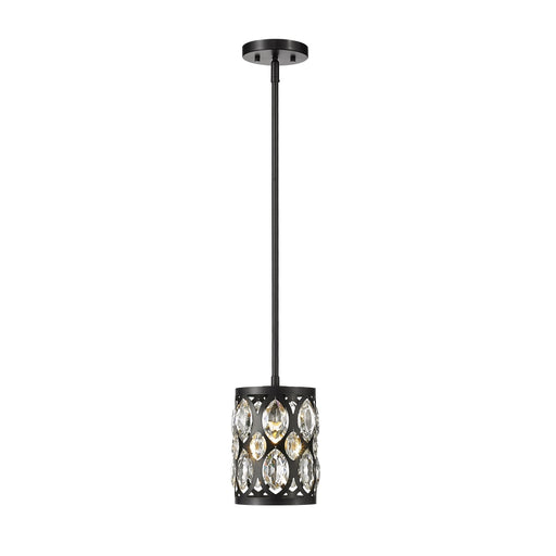 Z-Lite Dealey Matte Black Mini-Pendant 6010MP-MB - Mini-Pendants