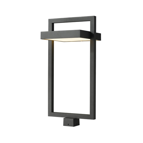 Z-Lite Luttrel Black LED Outdoor Post Mount Fixture 566PHXLS-BK-LED - Outdoor Post Mount Fixture