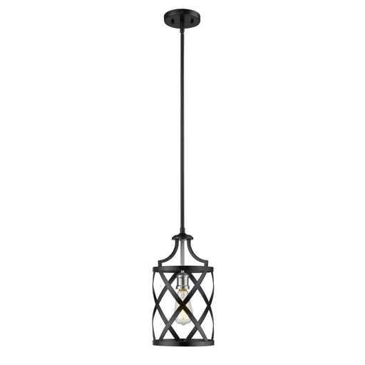 Z-Lite Malcalester Matte Black Brushed Nickel Mini-Pendant 481MP-MB-BN - Mini-Pendants