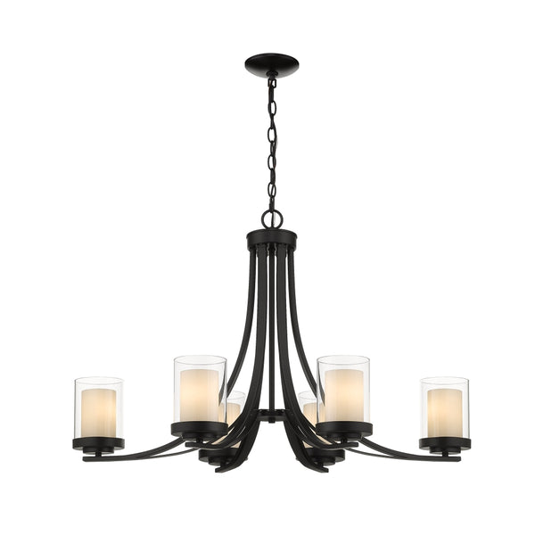 Z-Lite Willow Matte Black Chandelier 426-6-MB - Chandeliers
