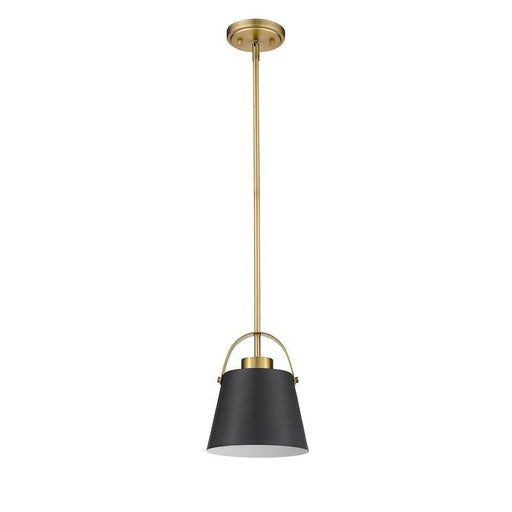 Z-Studio Matte Black Heritage Brass 1 Light Mini-Pendant - Mini-Pendants