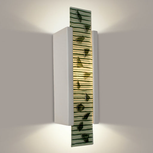 Zen Garden White Gloss and Multi Seaweed Wall Sconce - Wall Sconce