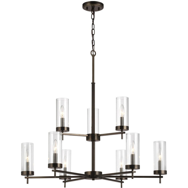 Zire Brushed Oil Rubbed Bronze Chandelier - Chandeliers