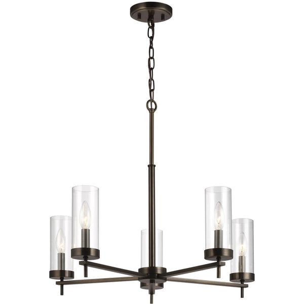 Zire Brushed Oil Rubbed Bronze LED Chandelier - Chandeliers