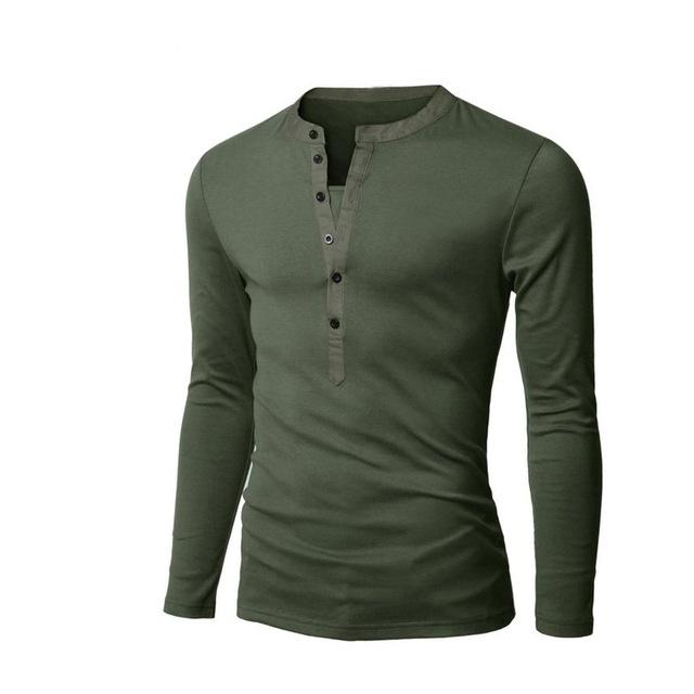 443a66afdcb Click to enlarge. Home LLYGE 2018 Summer Men s Short Sleeve V Neck T-Shirts  Fashion Army Green Casual Henley Shirt Tees ...