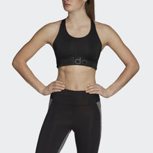 Load image into Gallery viewer, Design 2 Move Logo Sports Bra (Black)