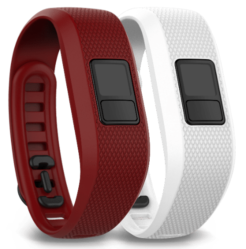 Accy Bands, vivofit 3, Regular, Marsala/White (2 pack)