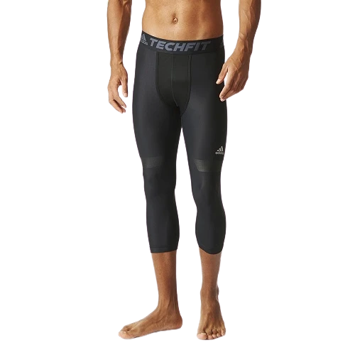 Men Training Techfit Chill 3/4 Tights Black