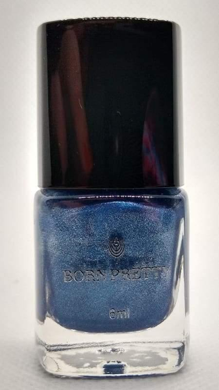 Born Pretty Stamping Polish - #33 (Metallic Blue)-Nail Polish-Nail Polish Life