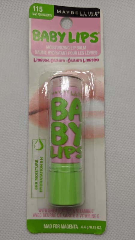 Maybelline Baby Lips - 115 Mad For Magenta-Lip-Nail Polish Life