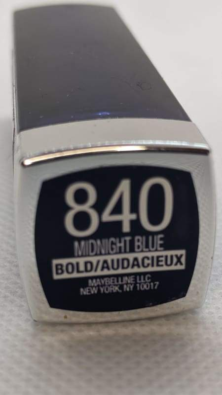 Maybelline Color Sensational Lipstick - 840 Midnight Blue-Lip-Nail Polish Life