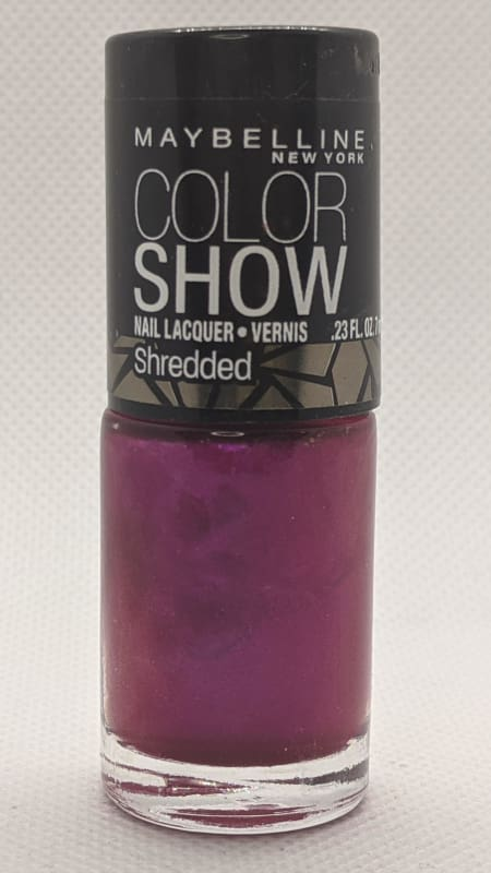 Maybelline Color Show Nail Lacquer Shredded - 40 Magenta Mirage-Nail Polish-Nail Polish Life