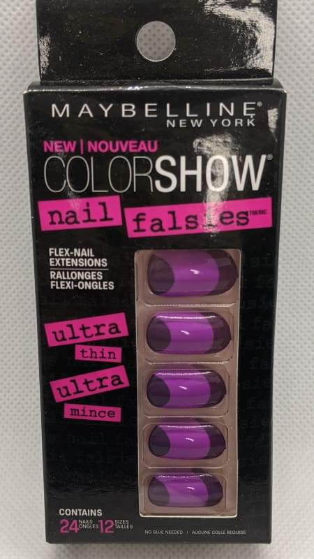 Maybelline Nail Falsies Flex Nail Extensions - 40 Plum Sunset-Stick-on Nails-Nail Polish Life