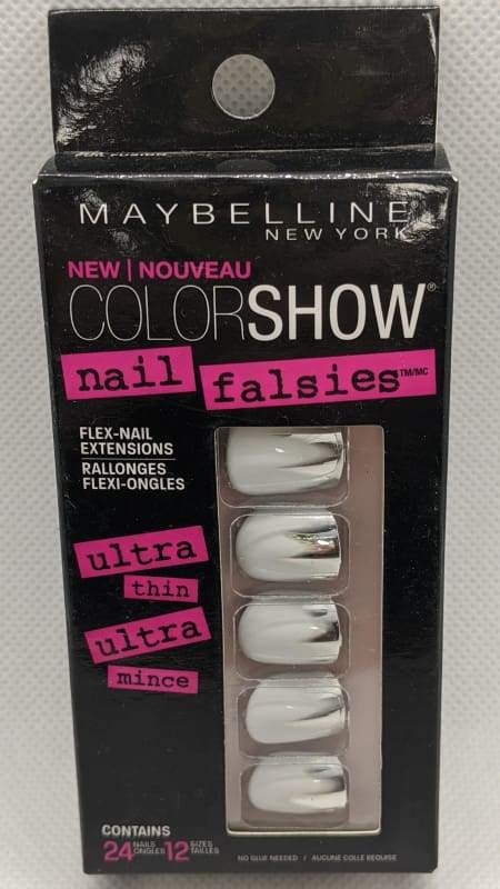 Maybelline Nail Falsies Flex Nail Extensions - 50 Foil Fusion-Stick-on Nails-Nail Polish Life
