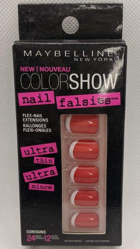 Maybelline Nail Falsies Flex Nail Extensions - 80 Keep It Red-Stick-on Nails-Nail Polish Life
