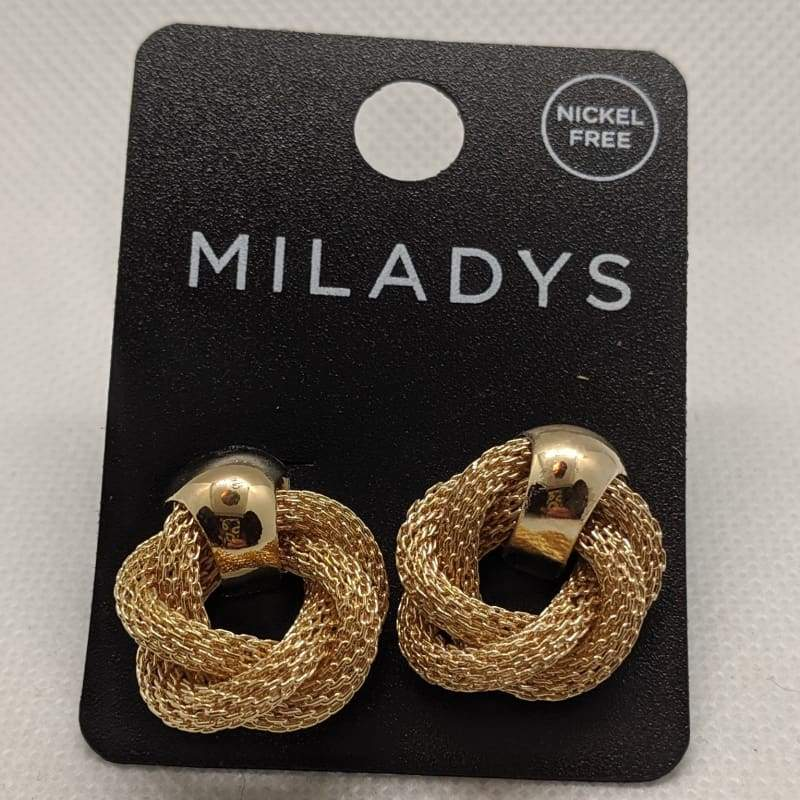 Miladys Braided Loop Earring - Gold-Nail Polish Life