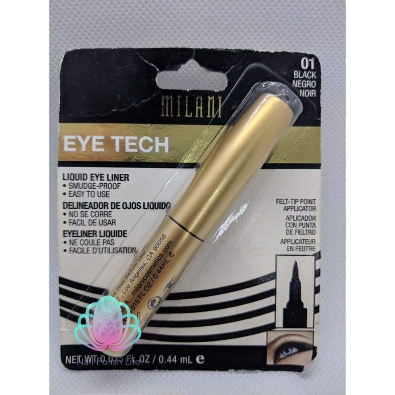 Milani Eye Tech Liquid Eyeliner - 01 Black-Eye-Nail Polish Life