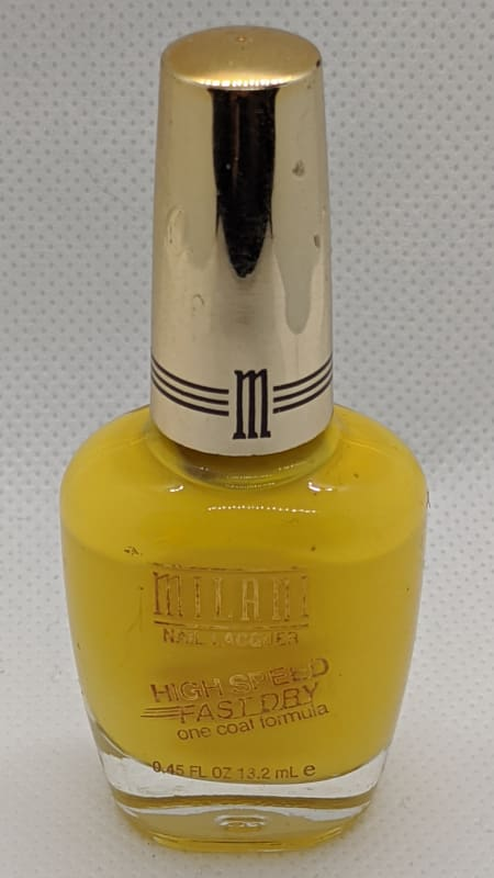 Milani High Speed Fast Dry One Coat Formula - 07 Yellow Whiz - Nail Polish